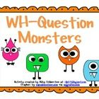 This is a monster-themed card set with 24 cards to target WH-Questions (where, what, when questions). The set also includes a cover sheet and instr...