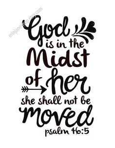 She shall not be moved Psalm 46:5 Instant by erinjaneshop on Etsy