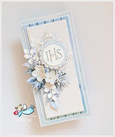 Baptism Cards, Birthday Cards For Women, First Holy Communion, Scrapbook Cards, Scrapbooking, Flower Cards, Cute Cards, Paper Cutting, Christening