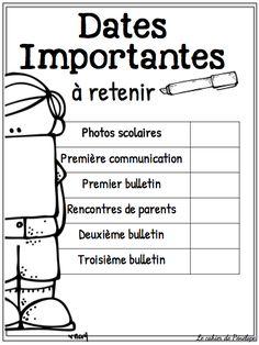 Voici quatre petits documents qui pourraient être utiles lors de vos rencontres de parents la semaine prochaine. En un coup ... Classroom Organisation, Classroom Management, Classroom Ideas, Classroom Calendar, Notes To Parents, Superhero Classroom, French Classroom, Kindergarten First Day, Parent Communication