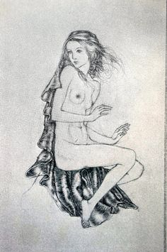Sulamith Wulfing Matted Print 1931 AKT ACT ACTRESS Nudity Naked Girl Lady with Cloak Professionally Matted Religious Wall Art Ready to Frame