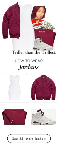 """""""Untitled #59"""" by deyah123 on Polyvore featuring MICHAEL Michael Kors, NIKE, Hervé Léger, women's clothing, women's fashion, women, female, woman, misses and juniors"""