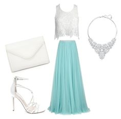 """Style #22"" by saric-fahreta ❤ liked on Polyvore featuring Jenny Packham, Sans Souci, Steve Madden, Neiman Marcus and Swarovski"