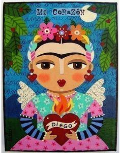 Frida Kahlo by LuLu, MyPinkTurtleStudio