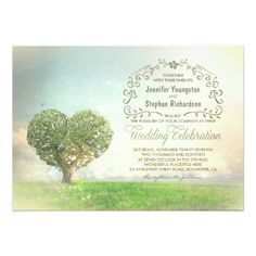 Get off these old tree rustic wedding invitations when you order 100 or more invites. We have lots of other wonderful rustic country wedding invitations like: and Heart Wedding Invitations, Vintage Invitations, Wedding Invitation Design, Custom Invitations, Invites, Oak Tree Wedding, Rustic Wedding, Celebrity Weddings, Tree Branches