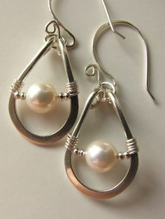 Sub a stone bead for the pearl and they'd be perfect