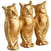 Found it at Wayfair - Three Who Sculpture in Gold Leaf