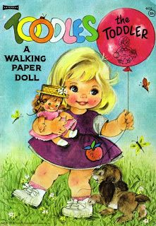 Sharon's Sunlit Memories: Toodles A Walking Paper Doll, Artcraft #4416, 1966