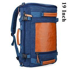 Altosy Men's Retro Canvas Travel Duffel Bag 2033 (Blue, 2…