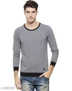 Tshirts Men's Trendy Cotton Solid T-Shirt  *Fabric* Cotton  *Sleeves* Full Sleeves Are Included  *Size* S, M, L, XL,XXL (Refer Size Chart)  *Length* Refer Size Chart  *Fit* Regular Fit  *Type* Stitched  *Description* It Has 1 Piece of Men's T-Shirt  *Pattern * Striped  *Sizes Available* XXS, XS, S, M, L, XL, XXL, XXXL, 4XL, 5XL, 6XL, 7XL, 8XL, 9XL, 10XL, Free Size *    Catalog Name: Rigo Men's Stylish Cotton Solid T-Shirts Vol 3 CatalogID_123827 C70-SC1205 Code: 692-1025097-