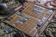 Matérialisation dun mini jeu de The Witcher 3 Wild Hunt. Conçu dans le style celtique antique (dans le jeu - Skellige Style). À la main fabriquée à