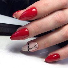 Red Nail Art Designs Cute Nail Art Ideas for a Red Manicure. Red Nail Art, Cute Nail Art, Beautiful Nail Art, Cute Nails, Pretty Nails, Black Nail Designs, Short Nail Designs, Nail Art Designs, Nails Design