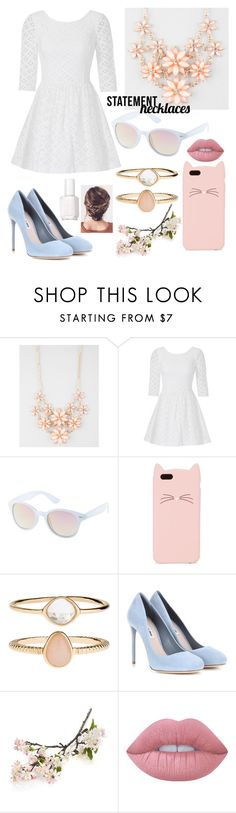 """""""Statement Necklaces"""" by haleyharshman ❤ liked on Polyvore featuring Full Tilt, Lilly Pulitzer, Charlotte Russe, Kate Spade, Accessorize, Miu Miu, Crate and Barrel, Lime Crime, Essie and statementnecklaces"""