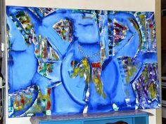 Blue Inka Woman, Olie på lærred (100x150) 2013 af Svend Christensen