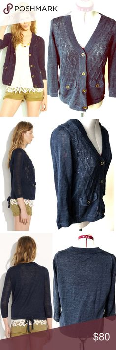 NWOT Madewell Wallace Cablecar Cardigan Love this laid-back cardigan for its softly textured feel and cinchable waist—it's equally perfect for day or night. Linen/cotton. V-neck. Bracelet sleeves. | ▪️This item is in perfect condition with no evidence of wear, stains or rips▪️ Madewell Sweaters Cardigans