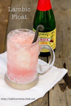 Lambic Ice Cream Float  |  Life Currents #dessert #iceCream #beverage #beer http://lifecurrents.dw2.net