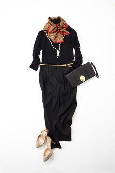 ルミネ北千住のアイテムで「X'masウィークの華やかお出かけ服」コーディネイトのレッスン。ブラックコーデを格上げするインパクト小物!人気スタイリスト田沼智美さんがシンプルでかわいいをテーマに、毎日のコーディネイトに役立つアドバイスをお伝えします。