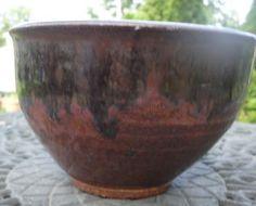 Pottery Cereal Bowl in Blacks browns by NancyBloklandPottery, $20.00