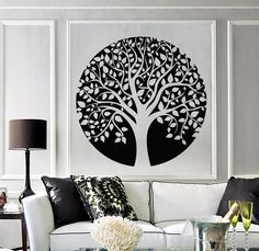 Vinyl Wall Decal Family Circle Tree of Life Celtic Style Nature Stickers (1246ig)