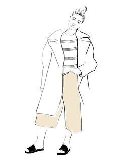 fashionillustration illustration fashiondrawing culottes design designer illustration  graphics print pattern