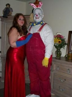 Coolest Jessica and Roger Rabbit Couple Costume  sc 1 st  Pinterest & The best Roger Rabbit and Jessica Rabbit costumes i have seen ...
