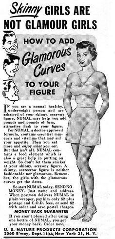 Skinny girls are NOT glamour girls!