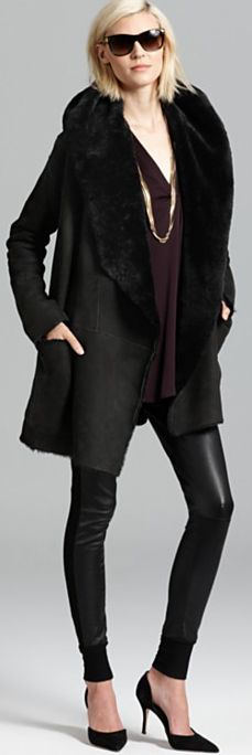 Vince Jacket and Blouse. Keeping it simple and sexy.