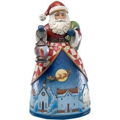 Jim Shore Santa Up Over the Village Collectible Figurine (£49) ❤ liked on Polyvore featuring home, home decor, holiday decorations, no color, santa figure, christmas home decor, father christmas figure, santa claus figure and christmas santa claus figurines