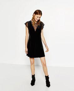 VELVET DRESS-DRESSES-WOMAN | ZARA United States