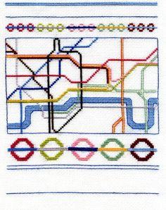 Lovely London cross stitch pattern PDF file by StitchKits on Etsy, £6.50