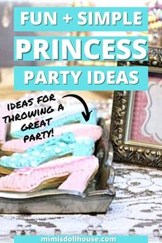 Pretty princess hats for a little girl's party! Vintage Princess Party: Tessa's Pretty Princess Party. Pretty floral and lace galore...celebrate your little princess with a beautiful princess party! Today I'm sharing a sweet and feminine princess party with amazing princess party ideas! Plus, check out this simple DIY Princess Hat tutorial! Ready to party with some floral and lace and fun princess ideas? #princess #party #partyideas #birthday #girl #parties #diy Birthday Party Treats, 1st Birthday Party For Girls, 1st Birthday Party Decorations, Princess Birthday, Princess Hat, Little Princess, Vintage Princess Party, Diy Party, Party Ideas