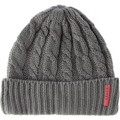 cc96c890abd Pre-owned Prada Sport Cable Knit Beanie ( 75) ❤ liked on Polyvore featuring  accessories