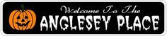 ANGLESEY PLACE Lastname Halloween Sign - Welcome to Scary Decor, Autumn, Aluminum - 4 x 18 Inches by The Lizton Sign Shop. $12.99. 4 x 18 Inches. Aluminum Brand New Sign. Predrillied for Hanging. Rounded Corners. Great Gift Idea. ANGLESEY PLACE Lastname Halloween Sign - Welcome to Scary Decor, Autumn, Aluminum 4 x 18 Inches - Aluminum personalized brand new sign for your Autumn and Halloween Decor. Made of aluminum and high quality lettering and graphics. Made to last for yea...