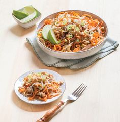 Teriyaki Chicken with Carrot and Cabbage Slaw