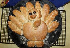 We found this fun turkey bread recipe at the Wheat Foods Council and thought we would give it a try because he was just so darn cute.  To...