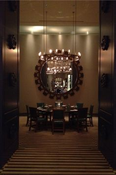 Private Dining Room, Saltwater Restaurant, MGMGrand Detroit designed by Tony Chi