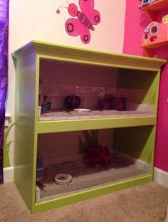 Guinea Pig Cage Made From a Dresser | 11 DIY Guinea Pig Cage Ideas | Fun And Gorgeous Guinea Pig Cage by DIY Ready at http://diyready.com/diy-guinea-pig-cage-ideas/