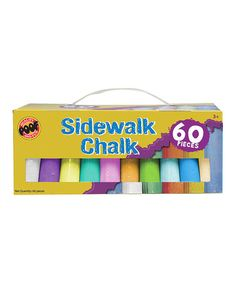 Create concrete collages or polychromatic portraits with this colorful sidewalk chalk set. The handy storage container keeps things portable for petite Picassos on their afternoon artistic activities. Filled Easter Baskets, Preschool Supplies, Science Toys, Needlework Shops, Free Candy, Sidewalk Chalk, Activity Games, Activities, Outdoor Art