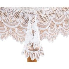 Buy White Rose Lace Tablecloth at Walmart.com for an #overlay on a #burlap or red tablecloth #tablescape