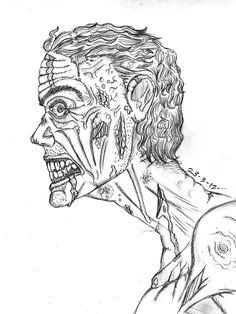 Zombie Sketch Art   Zombie sketch by TheWallProducciones