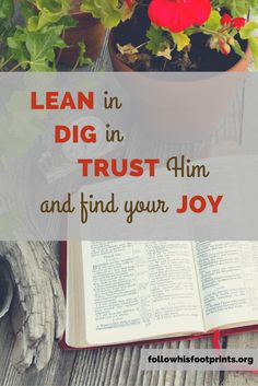 Let's lean in, dig in, trust Him and find our joy this season.