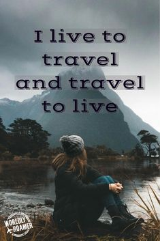 I live to travel and travel to live - by Worldly Roamer LLC Wanderlust Quotes, Wanderlust Travel, Hiking Quotes, Travel Quotes, New Adventure Quotes, Adventure Travel, Travel Words, I Want To Travel, New Adventures