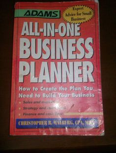 Book & Reviews: Book Review - All-in-One Business Planner