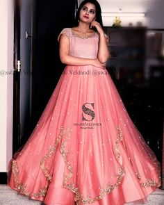 Traditional silhouettes in dreamy pastel colours for that elegant and effortless ethnic style. call/watsapp : 918179668098 for details Long Gown Dress, Frock Dress, Dress Up, Saree Dress, Long Frock, Lehenga Gown, Long Gowns, Anarkali, Indian Wedding Gowns