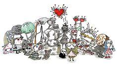 """""""Sabe o que é estranho? É que sempre me achei normal quando era criança. Depois de um tempo, você começa a pensar que é maluco, porque todo mundo te chama assim. Aí, os anos passam e você se dá conta de que eles estavam certos, você era louco mesmo.""""    Desenhos do livro """"O Triste Fim do Pequeno Menino Ostra e Outras Histórias"""", de Tim Burton"""
