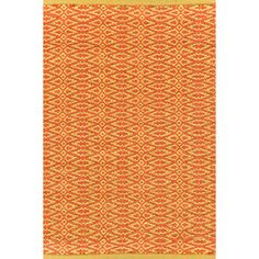 FAVE Fair Isle Paprika/Curry Cotton Woven Rug