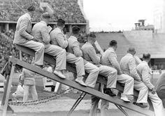 Reichssportfeld 1936-Les juges de ligne (Richter)