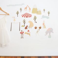 Meet the 'Faraway Circus'. These reusable fabric wall decals will add a bit of magic to any room. Found on hardtofind.com.au