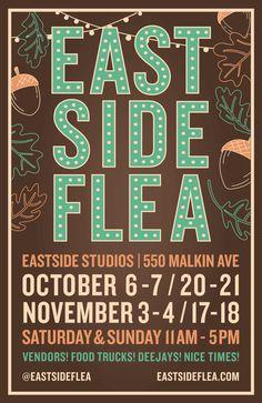 Eastside Flea New Location Vintage Fall, Vintage Market, Fleas, Posters, Marketing, Signs, Creative, Vintage Marketplace, Shop Signs