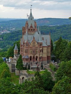 Drachenfels Castle is a castle ruin near Busenberg in the Palatinate Forest in Rhineland-Palatinate, Germany.    It is located on and inside a sandstone rock 368m in height. It is unknown when the castle was built, but the Castellans, the lords of Drachenstein, are first documented in 1209.